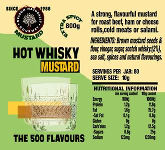 Hot Whisky Mustard (800g)