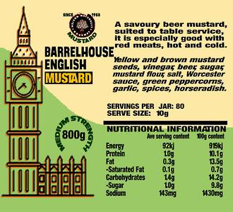 Barrelhouse English Mustard (800g)