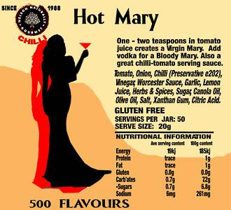 Hot Mary Sauce (One Litre)