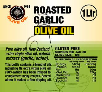 Roast Garlic Olive Oil (1 litre)