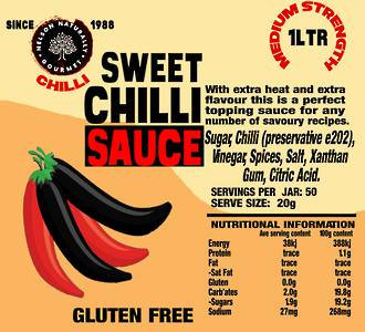 Sweet Chilli Sauce (One Litre)